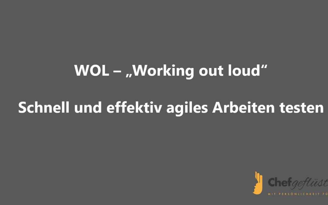 WOL – Working out loud: Schnell und effektiv agiles Arbeiten testen